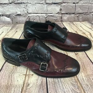 Alexander McQueen 40 Double Monk Strap Dress Shoes